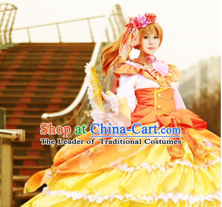 Custom Made Lovelive Cosplay Costumes and Headwear Complete Set for Women or Girls