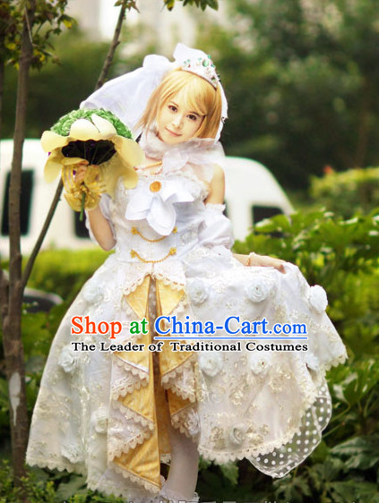 Custom Made Lovelive Cosplay Costumes and Headdress Complete Set for Women or Girls