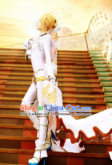 Custom Made Fate_EXTRA CCC Cosplay Costumes and Headdress Complete Set for Women or Girls