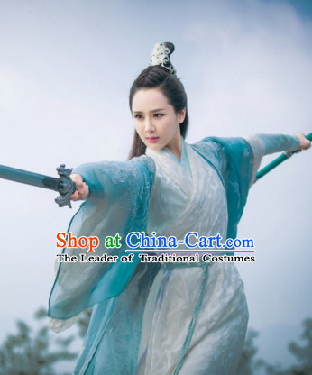 Traditional Chinese Swordswoman Dress Chinese Knight Clothing Cloth China Attire Oriental Dresses for Women