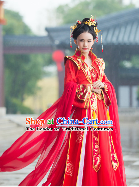 Traditional Chinese Wedding Dress Chinese Hanfu Clothing Cloth China Attire Oriental Dresses Complete Set for Women