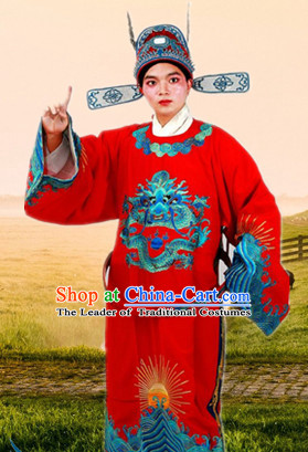 Chinese Beijing Opera Costumes Peking Opera Bridegroom Official Costume Complete Set for Men