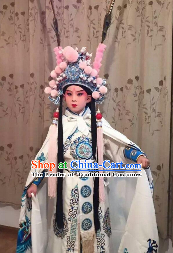 Chinese Beijing Opera Costumes Peking Opera Superhero Costume Complete Set for Kids Children