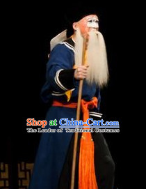 Chinese Beijing Opera Costumes Peking Opera Fisherman Old Man Costume Complete Set for Men