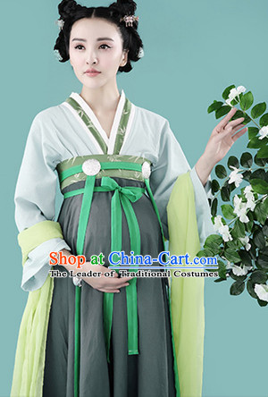 Chinese Traditional Dress Clothing Hanfu National Costumes China Gown Wear