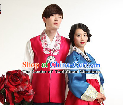 South Korean Style Couple Embroidered Clothing Traditional Korean Dress Traditional National Costume