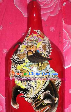 Chinese Hand Painted Du Huo Ma Shao Hanging Mask Arts