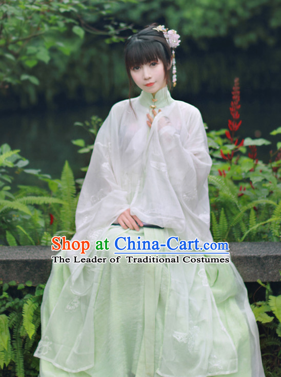 Traditional Chinese Ming Dynasty Noblewoman Blouse Skirt and Hair Jewelry Complete Set for Women