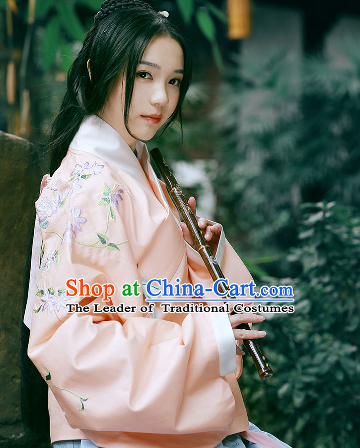 Traditional Chinese Ancient Ming Dynasty Costumes Clothing and Headgear Complete Set for Women
