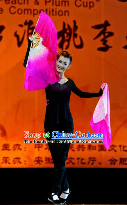 Black Mandarin Chinese Traditional Dance Costume Folk Dancing Costumes Traditional Chinese Dance Costumes Asian Dance Costumes Complete Set for Women
