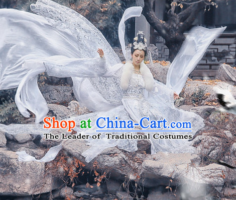 Ancient Chinese Style Fairy Beauty Cosplay Garment Costumes Clothing for Women