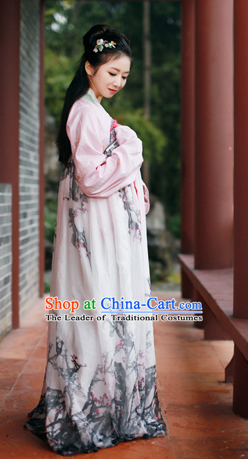 Ancient Dynasty Women Han Fu_Hanfu Clothing Hanzhuang Historical Dress Historical Clothing and Accessories Complete Set for Women