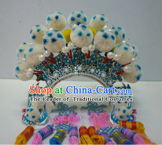 Top Traditional Chinese Opera Phoenix Coronet Hair Accessories Props for Adults and Children