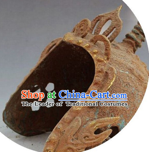 Ancient Chinese Style Archaic General Brass Helmet
