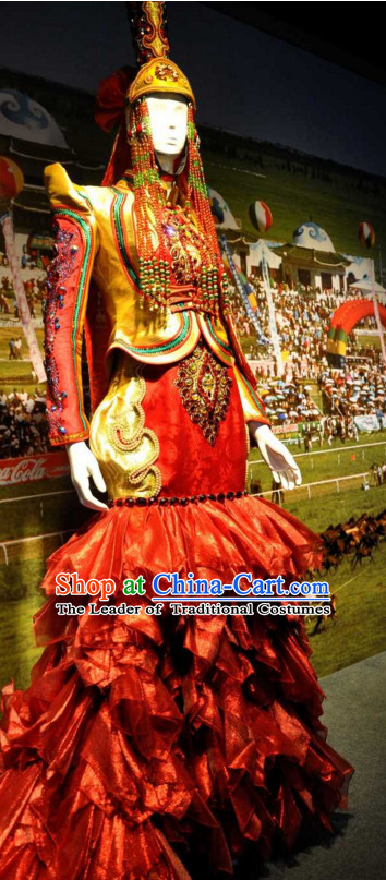 Chinese Traditional Ethnic Empress National Costumes Wedding Dresses Wear Clothing and Hat Complete Set for Men