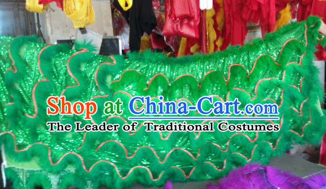 Top Asian Chinese Lion Dance Troupe Performance Suppliers Pants Equipments Art Instruments Lion Tail Costumes Set