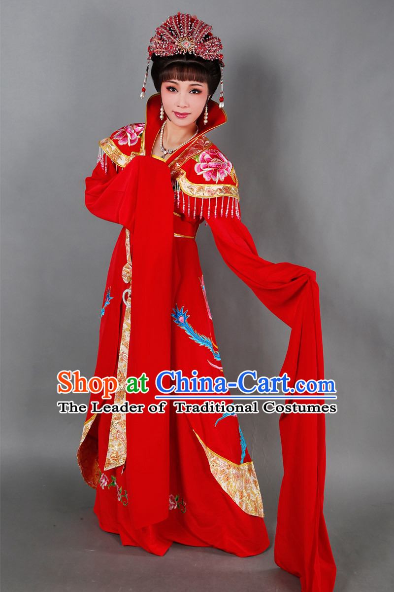 Chinese Opera Costumes Stage Performance Costume Chinese Traditional Empress Costume Drama Costumes Complete Set for Women