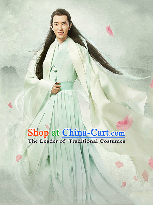 Chinese Men's Clothing & Apparel Chinese Traditional Dress Theater and Reenactment Costumes and Headwear Complete Set