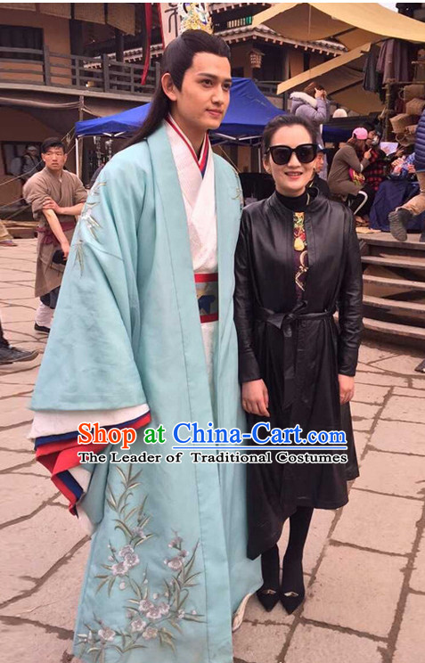 Chinese Ancient Prime Minster Men's Clothing _ Apparel Chinese Traditional Dress Theater and Reenactment Costumes and Headwear Complete Set