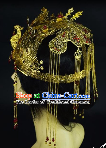 Top Chinese Princess Phoenix Hair Style China Hairpieces Chinese Traditional Hairpins Bridal Hat