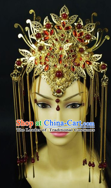 Top Chinese Princess Phoenix Hair Style China Hairpieces Chinese Traditional Hairpins Bridal Headwear