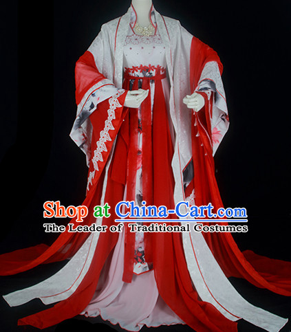 Ancient Chinese Fairy Costumes Imperial Princess Outfits Complete Set for Women