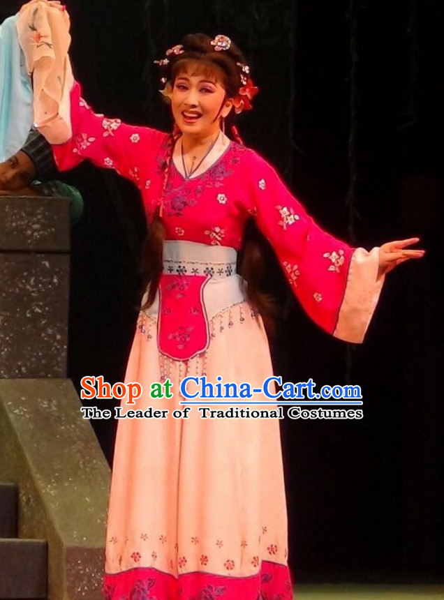 Chinese Classical Yue Opera Dance Costumes Huang Mei Opera Costume Complete Set for Women Girls Children Adults