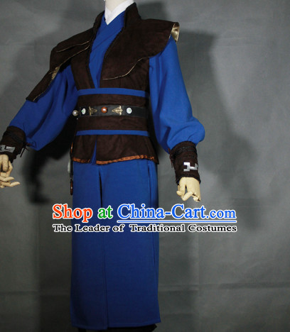 Ancient Knight Hanfu Hanzhuang Han Fu Han Clothing Traditional Chinese Dress National Costume Complete Set for Men or Boys