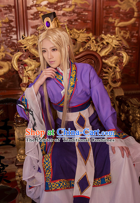 Ancient Prince Cosplay Hanfu Hanzhuang Han Fu Han Clothing Traditional Chinese Dress National Costume Complete Set for Men or Boys