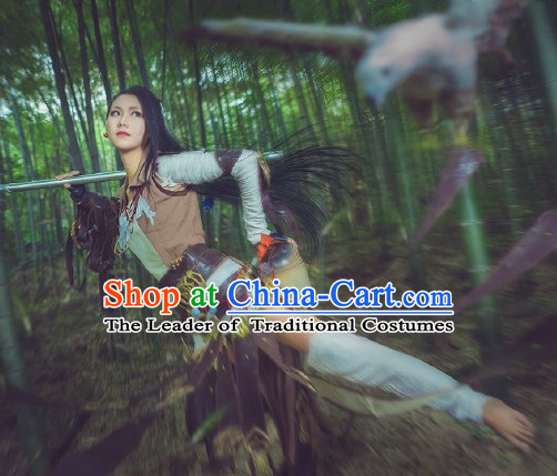 Ancient Chinese Style Halloween Cosplay Cos Fighter Knight Complete Set for Men