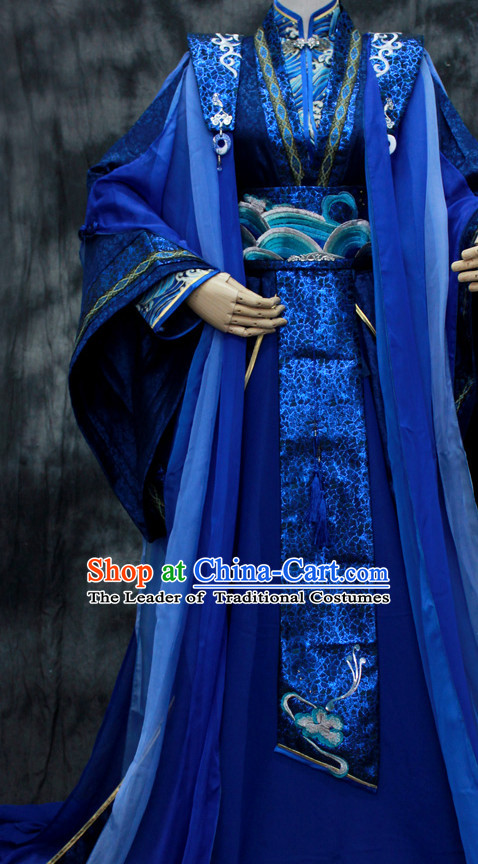 Chinese Classical Emperor Imperial Robe Clothes Hanfu Han Fu Complete Set for Men