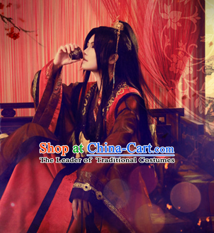 Chinese Classical Knight Warrior Cosplay Clothes Hanfu Han Fu Costumes for Men
