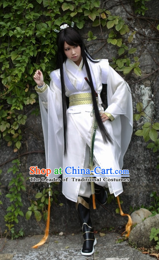Top Chinese Ancient Warrior Costumes Theater and Reenactment Costumes Complete Set for Men