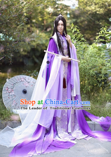 Top Chinese Ancient Artist Clothing Theater and Reenactment Costumes Complete Set for Men