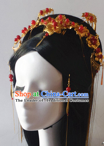 Chinese Classic Headwear Crowns Hats Headpiece Hair Accessories Jewelry Set