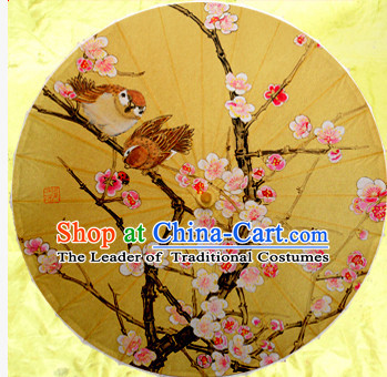 Asian Dance Umbrella China Handmade Classical Birds Flower Umbrellas Stage Performance Umbrella Dance Props
