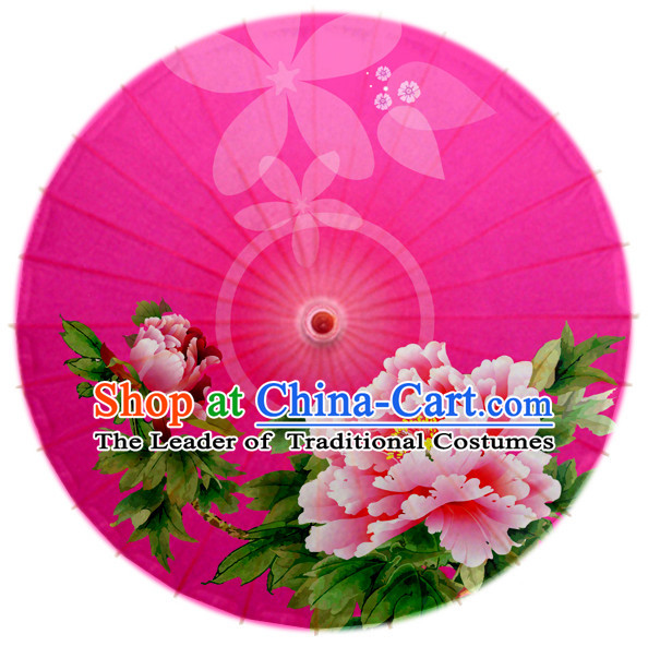 Asian Dance Umbrella Chinese Handmade Flower Umbrellas Stage Performance Umbrella Dance Props