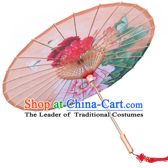 Asian Dance Umbrella China Handmade Peony Umbrellas Stage Performance Umbrella Dance Props