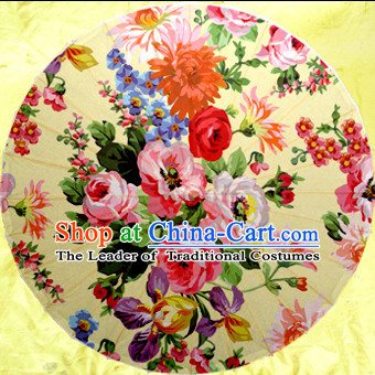 Asian Dance Umbrella China Handmade Flower Umbrellas Stage Performance Umbrella Dance Props