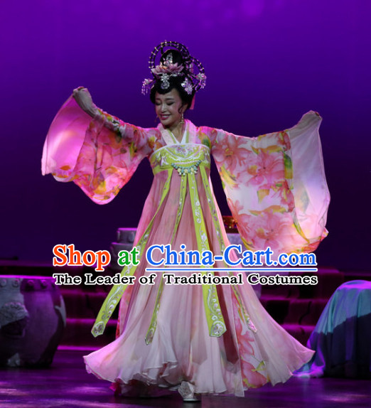 China Ancient Tang Dynasty Dresses Only Female Emperor Wu Zetian Drama Stage Performance Women Costumes Traditional Clothing Complete Set