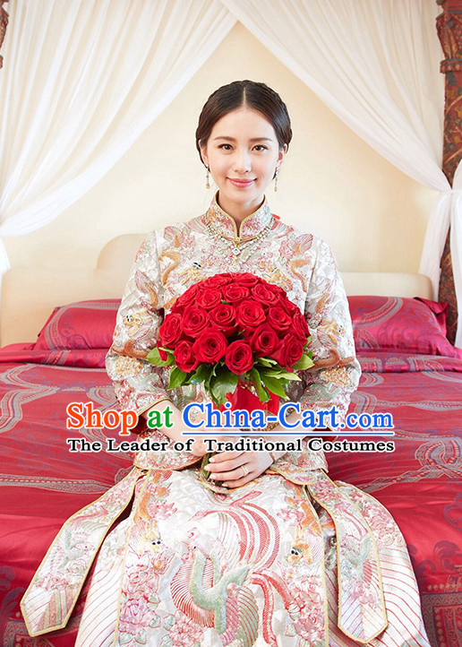 Top Traditional Chinese Phoenix Embroidered Wedding Dresses for Brides