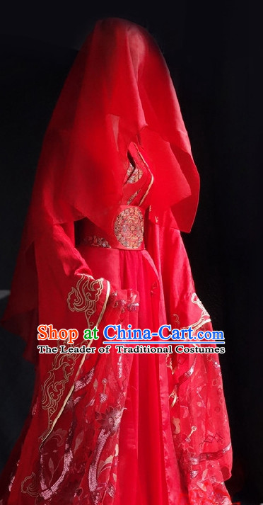 Ancient Chinese Imperial Wedding Dresses Traditional Chinese Hanfu Complete Set