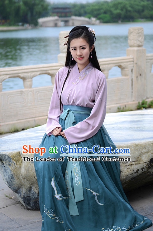 Ancient Chinese Han Dynasty Han Costume Dress Hanfu Suit