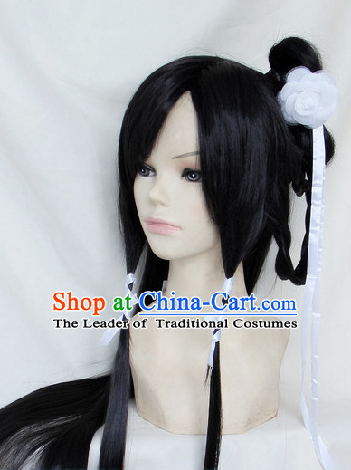 Chinese Classical Hair Wig Hair Decoration Wigs Set