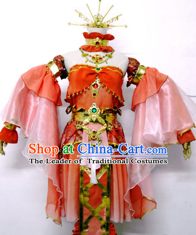 Special Ancient Chinese Official Traditional Opera Princess Costume Dresses Complete Set