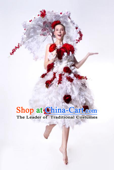 Parade Quality Flower Dance Costumes Popular Ostrich Feathers Fancy Costume Costume Angel Wings Costume Complete Set