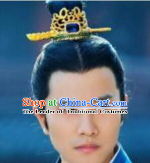Chinese Ancient Male Prince Coronet Crown Hair Decoration Head Comb Wedding Hair Hairpin Accessories