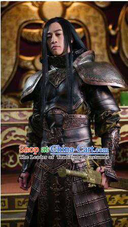 Chinese Ancient General Hero Body Armor Costumes Complete Set for Men