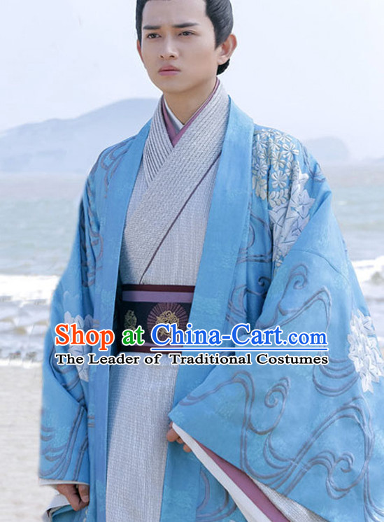 Chinese Prince Drama Performance Hanfu Festival Traditional Chinese Film Dress Rental Garment