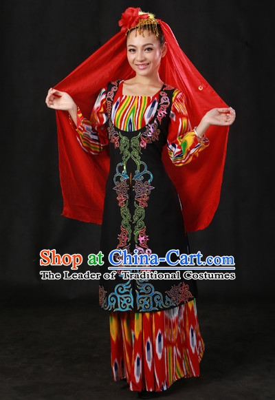 Xinjiang Minority Women Dresses Ethnic Clothing Minority Dance Costume Minority Dress